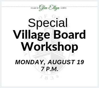 Village Board Workshop August 19 2019