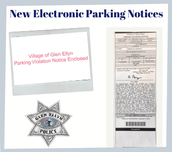 new electronic parking notices