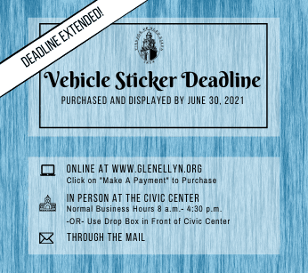 2021 Vehicle Sticker Deadline Extended